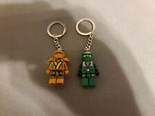 Lego Ninjago Minifigure, Green and Gold Ninja Keychain Lloyd ZX 9574 9450 KC50