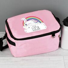 Personalised Pink Unicorn Lunch Bag Back to School Work Lunch Bag Birthday Gift