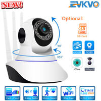 1080P HD Wireless IP Camera WiFi Home Security CCTV Video Pan/Tilt Motion Detect