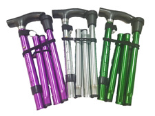 Life Healthcare - Metallic Design Adjustable Folding Walking Stick - Random