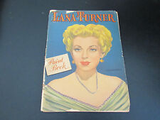 LANA TURNER VINTAGE 11X14 WHITMAN PAINT BOOK 1947 64 PAGES WITH MOST UNCOLORED