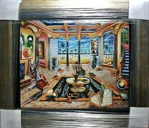 """Alexander Astahov-""""Beach House""""-Framed Limited Edition/Canvas/Hand Signed/LOA"""