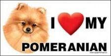 "MAGNET--I (Heart) Love My POMERANIAN-Red 4"" X 8"" Auto, Fridge, Locker Magnet"
