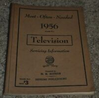 MOST-OFTEN-NEEDED 1956 TELEVISION SERVICING INFORMATION VOLUME TV-11