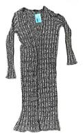 Preworn Grey Cotton Blend Womens Stretchy Cardigan Size M-L (Regular)