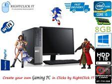 """Gaming Dell PC Komplett System & LCD 19 """" Intel Core i3 8GB 1TB GT-710 2GB Karte"""