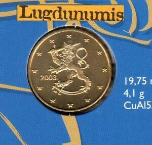 Finlande 2003 10 Centimes d'Euro BU FDC provenant du coffret 175000 exemplaires