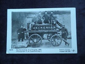 Pamlin Prints Reproduction Image Postcard of The Beckenham Fire Brigade c.1875