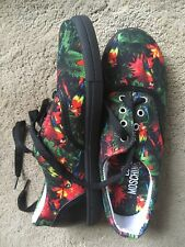 Moschino Trainers Flat,Lace Up,Leather+Canvas Ladies Size 3(36)New