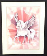 ~ Fantasy ~ 043 White Unicorn ~ Vintage Poster / Print 16 x 20