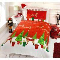 Weihnachten Doppelbett Bezug Set mit Kissenbezüge Kinder Bettwäsche