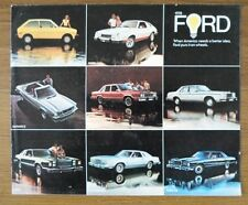 FORD orig 1978 USA Mkt sales brochure - Thunderbird Mustang Pinto LTD Fairmont