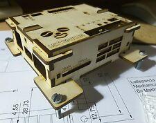 Wooden enclosure for lattepanda computer board.DIY case timber. VESA 100 adaptor