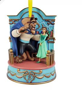 BNWT Disney Store 2020 Musical BEAUTY & BEAST Christmas Decoration Ornament
