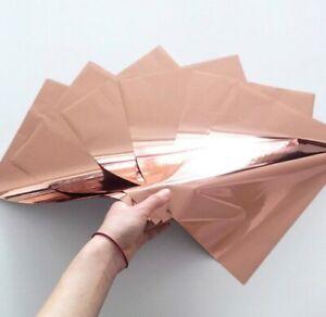 UK SELLER - A4 Toner Foil ROSE GOLD, Laser foil, heat transfer foil 50 sheets