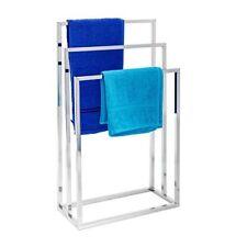 Relaxdays Porte-serviettes sur pied avec Base Antidérapante 3 Bras Chromés En...