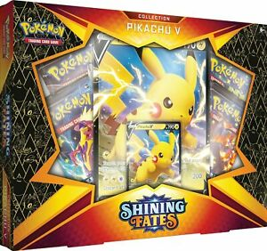 Pokemon Shining Fates Training Card Game Pikachu V Box Factory Sealed
