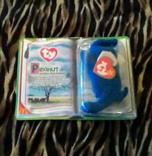 RARE TY ROYAL BLUE PEANUT the ELEPHANT BEANIE BABY - MINT with TAG Original