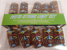 Tiki Head Light String Set Luau Party Patio Lights Ebay