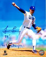 Tim Leary Signed 8X10 Photo 88 -  WS Champs Autograph LA Dodgers Auto w/COA 1988