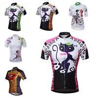 Damen Fahrradtrikot Tops Kurzarm Radsport Bekleidung Radtrikot Shirts S-5XL