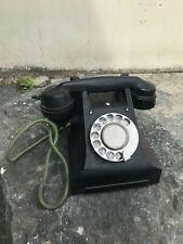 STUNNING VINTAGE BLACK BAKELITE TELEPHONE Art Deco Retro Antique dial phone