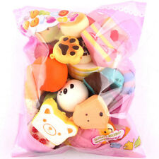10Pcs Jumbo Medium Mini Random Squishy Soft Panda/Cake/Bread/Buns Phone Straps