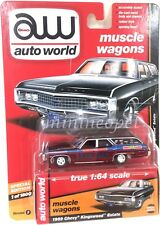 AUTOWORLD AW64142 B 1969 CHEVY KINGSWOOD ESTATE LEAD SLED 1/64 CHASE ULTRA RED