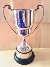 """Lovely Large Antique Silver Trophy Shabby Chic Cup 11"""" / 280mm #102 Free UK P&P"""