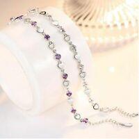 Damen Armband 925 Sterling Silber Armreif Liebe Herz Zirkon Women's bracelet Neu