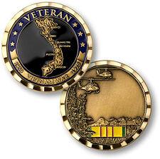 U.S. Military / Vietnam War Veteran - Brass Challenge Coin