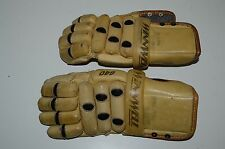 WINNWELL Hockey Gloves RARE Vintage 640 Jr? Small Adult? Leather Armor Lacrosse