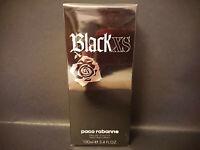 Black XS for Him Paco Rabanne 100 ml Eau Toilette EDT Vintage