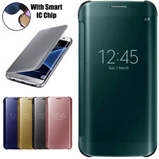 Mirror Smart Clear Flip Hybrid Case Cover For Samsung Galaxy S8 PLUS S8 S7 Edge