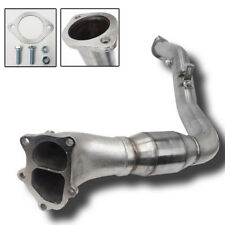 """REV9 FOR 05-09 SUBARU LEGACY GT 3"""" DIVIDED TURBO DOWNPIPE HIGH FLOW CAT MT"""