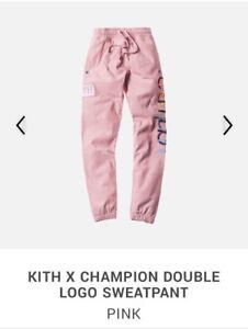 Kith x Champion Double Logo Sweatpant Pink NWT Sz L