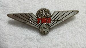 Vintage TWA Airlines Wings Gold Plastic Pin Stoffel Seals Tuckahoe NY
