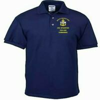 USS SPADEFISH  SSN-668  SUBMARINE EMBROIDERED LIGHT WEIGHT POLO SHIRT