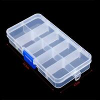 Fishing Lures Hook Bait Plastic Storage Box Adjustable Accessory Case Tack U5J4
