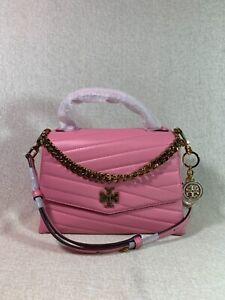 NWT Tory Burch City Pink Kira Chevron Top-Handle Satchel $498