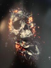 Skull Poster (flaming)
