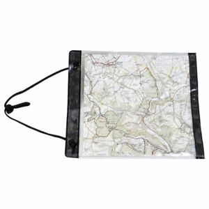 Highlander Scout Map Case Clear transparent Cover with neck strap 32.5 x 27 cm