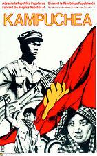 Political OSPAAAL poster.KAMPUCHEA Revolution.Cold War Pol Pot Khmer Rouge.as35