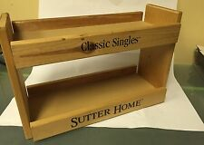 Wood Sutter Home Wine  Shelf  Display
