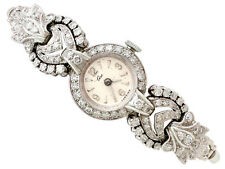 2.92 ct Diamond Cocktail Watch in Platinum and 9 ct White Gold - Vintage