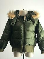 BOYS H&M KHAKI WARM HOODED COAT BOMBER JACKET KIDS AGE EUR 92