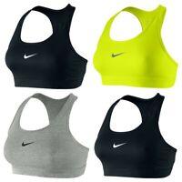 Nike Sports Bra Compression Pro Dri Fit Support Womens Swoosh Bras Training Size