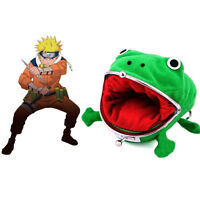 Naruto Frog Shape Uzumaki Wallet Coin Purse Green Cosplay Plush Cute @ami ge New