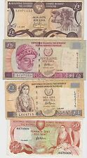 Cyprus - 1987-1997, Fifty (50) Cents, 1 & 5 Pounds