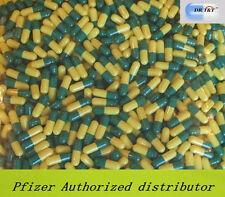100 Empty Gelatine gelatin green yellow capsules size 2  size2  EU product